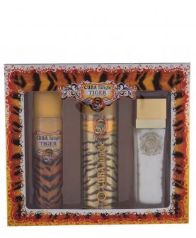 Cuba Jungle Tiger Woda Perfumowana 100 ml + Dezodorant 200 ml + Balsam 130 ml Zestaw