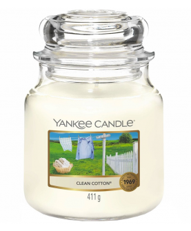 Yankee Candle Clean Cotton Świeczka Zapachowa 411 g