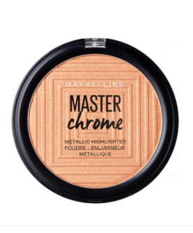Maybelline Master Chrome Rozświetlacz 100 Molten Gold 9 ml